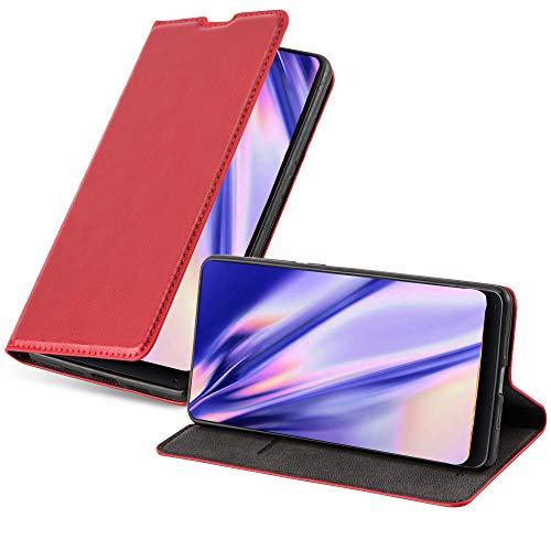 Cadorabo Funda Libro para Xiaomi Mi Mix 2 en Rojo Manzana - Cubierta Proteccíon con Cierre Magnético, Tarjetero y Función de Suporte - Etui Case Cover Carcasa