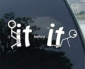 Tiukiu Fuck It Before It Fucks You Vinyl car Decal Window Bumper Mirror Laptop Sticker- 8