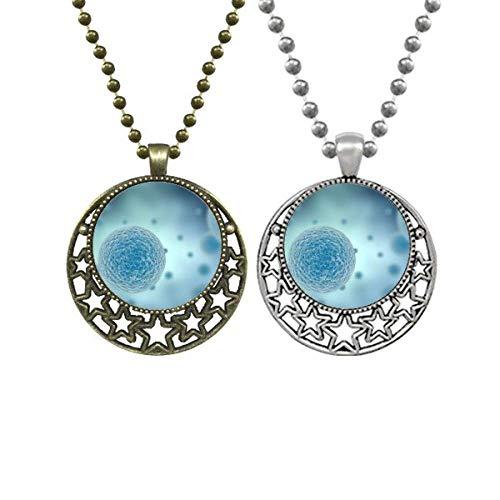 Beauty Gift Colares com pingente retrô de estrelas da lua com estrelas da lua, Bioplast, Bioplast
