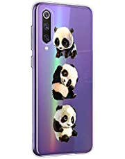 Oihxse Cristal Compatible con OPPO Realme XT/K5/X2/XT 730G Funda Ultra-Delgado Silicona TPU Suave Protector Estuche Creativa Patrón Panda Protector Anti-Choque Carcasa Cover(Panda A1)