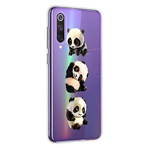 Oihxse Silicone Crystal Coque pour ASUS Zenfone Max M2 ZB633KL Ultra-Thin Transparente Gel TPU Souple Etui Design Motif Mignon Panda Protection Antichoc Housse Bumper (Panda A1)