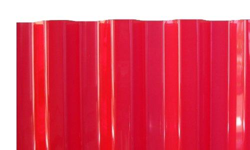 PVC Wellplatten Profilplatten Trapez 70/18 rot transparent ohne Struktur 2500 x 1090 mm