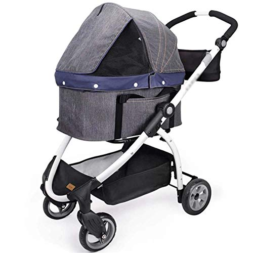 HIZLJJ Dog Stroller - Pet Strollers for Small Medium Dogs & Cats -Carriages Best for Cat & Large Puppy 15Kg Detachable Folding Pet Stroller