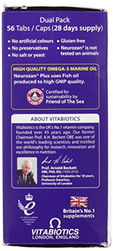 Neurozan Vitabiotics Plus Tablets 56 Capsules