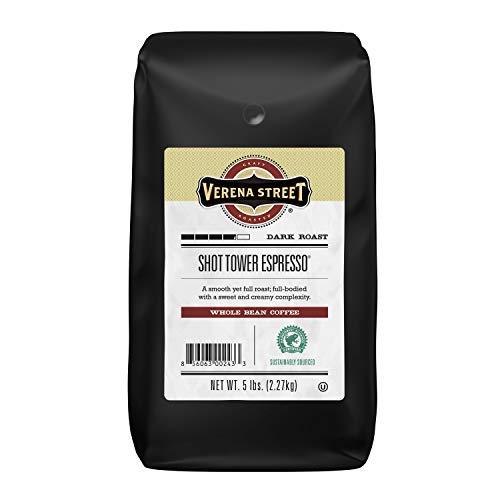 Verena Street 5 Pound Espresso Beans, Shot Tower Espresso Whole Bean, Rainforest Alliance Certified...
