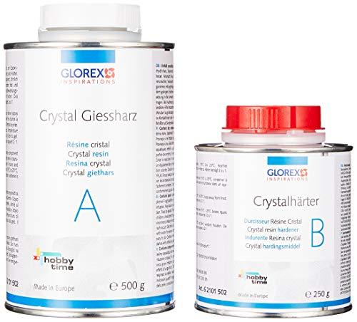 GLOREX 6 2101 502 Crystal-Giessharz 750ml, Mehrfarbig, One Size