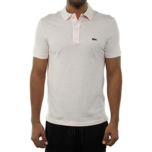 Lacoste Men's Classic Pique Slim Fit Short Sleeve Polo Shirt, Flamingo Pink, XL