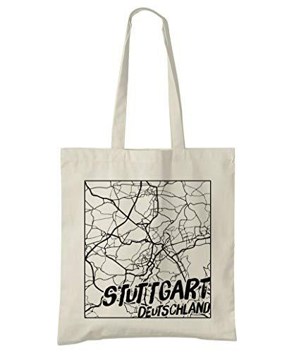 Super Cool Totes Stuttgart, Deutschland, Stadtplan Einkaufstasche (Design 3)