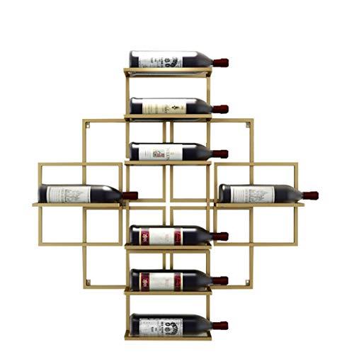 YINGGEXU Botellas Montado en la pared del vino Estante colgante Vino Tinto Vino Estantería de pared Decoración Estante Estantería de vino