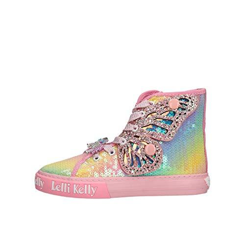 Lelli Kelly Mädchen Sneaker Unicorn Wings Rainbow Leinen pink Gr. 26
