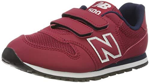 New Balance 500, Zapatillas Niños, Rojo (Red/Navy RR), 35 EU