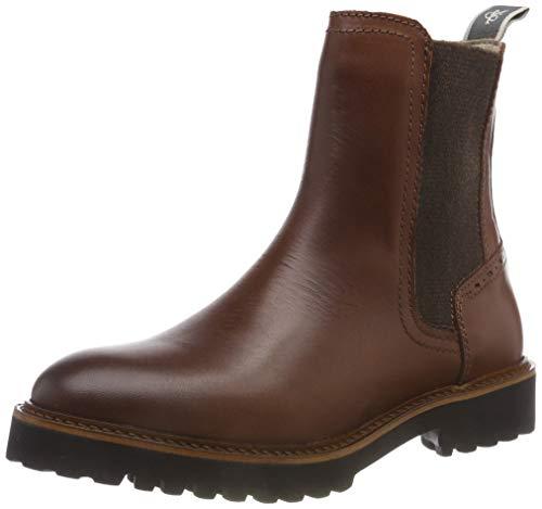Marc O'Polo Damen Flat Heel Chelsea Boots, Braun (Brandy 723), 39 EU