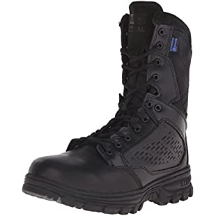 5.11 Tactical Evo 8 inch Waterproof Boot with Side Zip, Black, 8.5 (R):Wenstyle