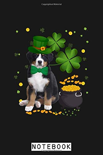 Greater Swiss Mountain Dog St Patricks Day Leprechaun Dog Notebook: Journal, 6x9 120 Pages, Diary, Planner, Lined College Ruled Paper, Matte Finish Cover