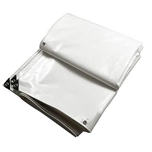 Tarpaulin NAN Bâche Robuste, polyéthylène tissé Haute densité et Double laminé - 600g / m², Blanc - 100% étanche et protégé Contre Les Rayons UV (Taille : 1.5 * 2m)