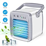 Personal Air Conditioner Fan, Air Personal Space Cooler Small Desktop Fan Quiet Personal Table Fan Mini Evaporative Air Circulator Cooler Humidifier for Office, Dorm, Room, Outdoor