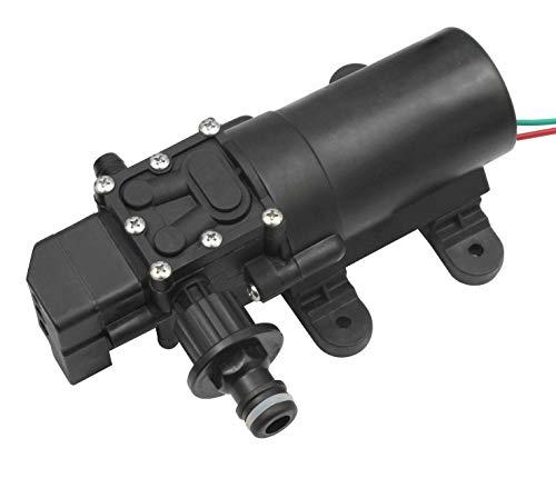 ONPIRA Wasserpumpe 12V (Hochdruckmembran) mit Gartenschlauch Anschluss selbstansaugende Pumpe für Wohnwagen, Boot, Wohnmobil, Garten