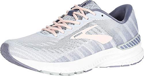 Brooks Womens Ravenna 10 Running Shoe - White/Grey/Pale Peach - B - 9.5
