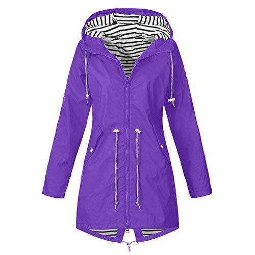 Chaqueta con capucha caliente amplia chaqueta de mujer pura lluvia al aire libre chaqueta impermeable con capucha cortavientos