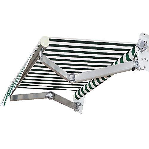 Awning LZPQ 2x1.5m Toldo de sombrilla retráctil Manual para Patio Pabellón Marco...