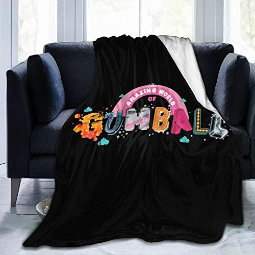 Lphdfoxh1 The Amazing World of Gumball, coperta in flanella, adatta a tutti, adatta per divano ufficio morbido e comodo.