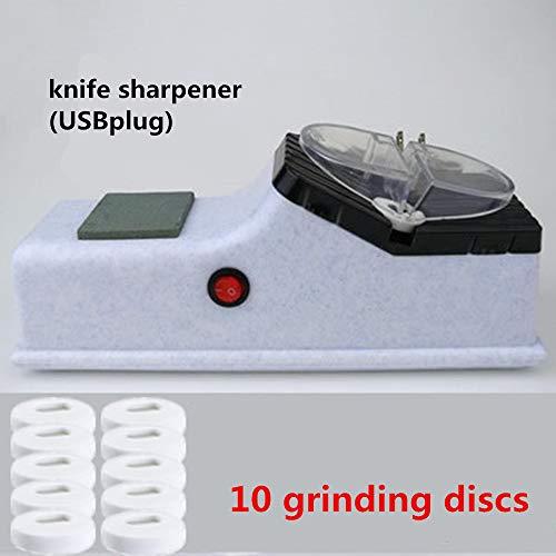 N/A Temperamatite, temperamatite Elettrico, temperamatite Automatico, Piccoli elettrodomestici Sharpening Stone Multi-Function Veloce Affilatura Forbici (acquisto di 10 Affilatrici per Free)