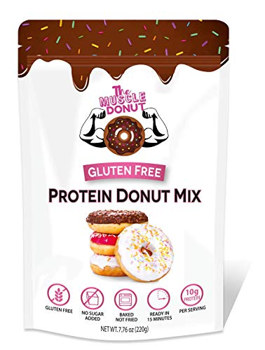 The Muscle Donut, High Protein Donut Mix, Gluten Free, Sugar Free, Low Carb, Low Glycemic