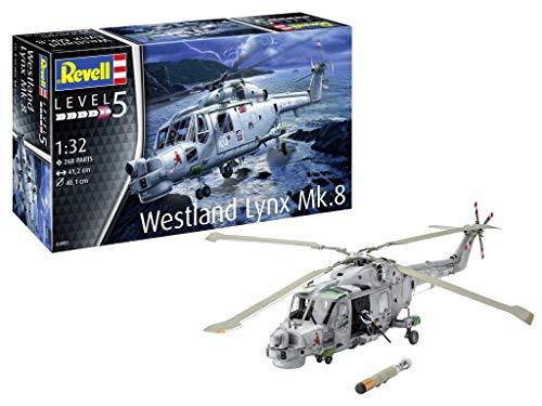 Revell- Westland Lynx MK. 8 Maqueta Helicóptero de Guerra, 14+ Años, Multicolor (04981)