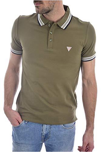 Guess Grady SS Camisa de Polo, Verde, S para Hombre