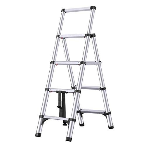 IAIZI Multi-Use Vouwladder Telescopische Uitbreiding Ladder Stap Ladder Kruk voor volwassenen Binnen/buiten Draagbare Lichtgewicht Schilderij Ladder Aluminium Engineering Trappen Zware Inklapbare Ladder