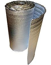 Lámina aislante aislante de 5 mm de doble cara (Sandwich) con lámina de aluminio – Aislamiento para calefacción por suelo radiante, aislamiento térmico, aislamiento acústico, resistente al agua y al vapor.