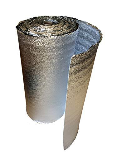 5 mm Wärmedämmende Isolierungsfolie doppelseitig (Sandwich) mit Aluminiumfolie - Isolierung für Fußbodenheizung, Wärme Isolierung, Schalldämmung, Wasser & Dampfresistent (8)
