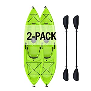 Constructed of uv-protected high-density Polyethylene. Multiple footrest positions for different size riders. Stable flat bottom Comfortable seat back for long paddling adventures. Stable flat bottom. Easy carry handle Front and rear shock cord strap...