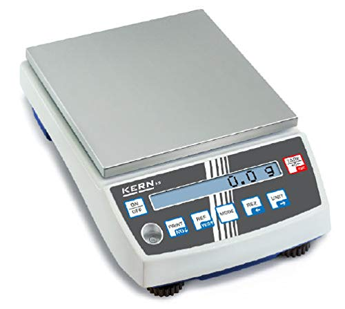 KERN KB 6500-1N KB-N - Báscula de precisión (6500 g, legibilidad de 0,1 g)