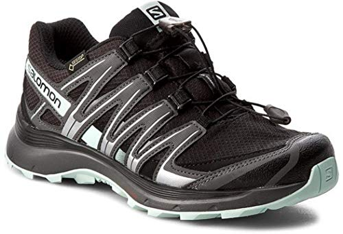 Salomon Damen Trail Running Schuhe, XA LITE GTX W, Farbe: schwarz/türkis (black/magnet/fair aqua)...