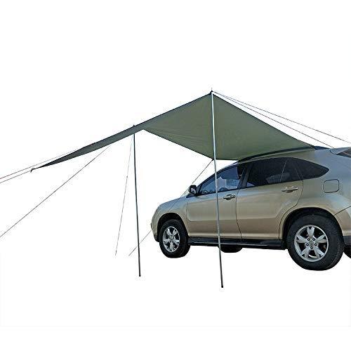 QQB Portátil Coche Lateral Toldo, Anti-UV en la azotea Sun Shade Refugio SUV Camping Toldo for el Viaje de Camping al Aire Libre Senderismo Tiendas de campaña Kit de Accesorios KNDTA