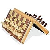 WXY-DE Conjunto de xadrez magnético Pequeno tabuleiro de xadrez para Adultos Tabuleiro de xadrez de Madeira portátil Rascunhos Jogo de tabuleiro Dobrável de Madeira para festas infantis Ativ