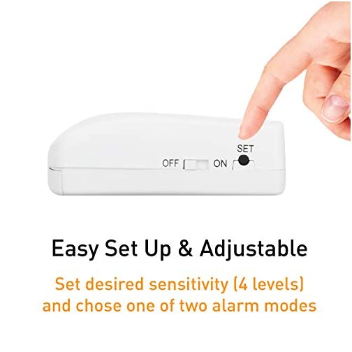 Securityman Door Handle Alarm with 130dB Vibration Triggered Door Alarm - Hang on Door Knob or Mount on Wall - Perfect Use for Kids, Elderly, Hotel Travel, Bedroom, Apartment (2 Pack) 5