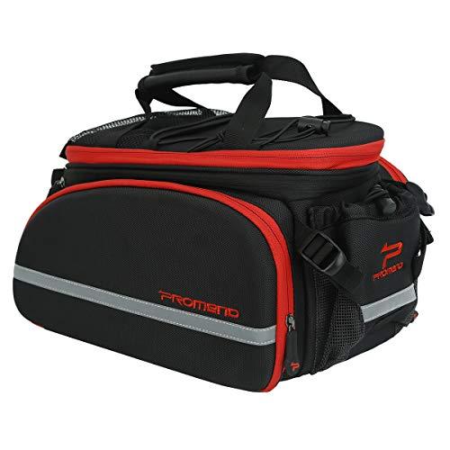 LOCAL LION wasserdichte Fahrradtasche für Gepäckträger 35L Doppelpacktasche Gepäckträgertasche Satteltasche Hinterradtasche für Fahrrad Mountainbike schwarz