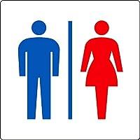 【842-64】トイレ表示 大 男女