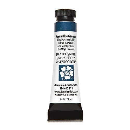 DANIEL SMITH 284610211 Extra Fine Watercolors Tube, 5ml, Mayan Blue Genuine