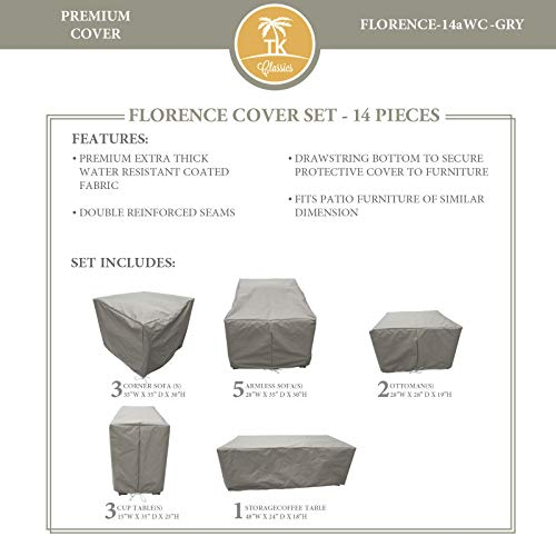 TK Classics FLORENCE-14a Protective Cover Set, in Grey Grey