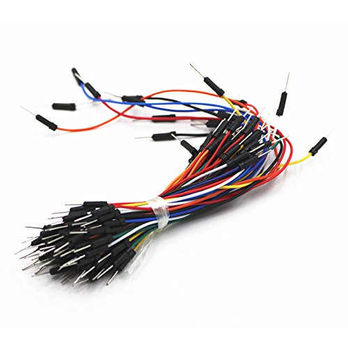 65Pcs/Lot Jump Wire Cable Male to Male Flexible Jumper Wires for Arduino Breadboard DIY Starter Kit