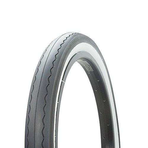 Fenix Slick Tread Bicycle Tire 20 x 2.125, for Fits S-2 Bike Rims, (Black/White)