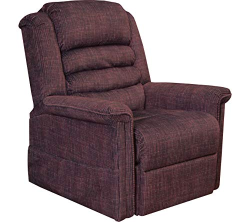 Catnapper Soother 4825 Power Full Lay-Out Lift Chair Recliner with Heat and Massage - Wine