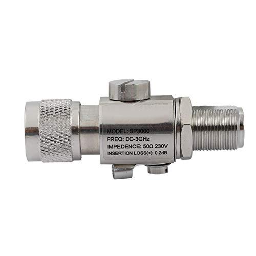 Diyeeni Antennen-Blitzschutz, N-Stecker auf N-Buchse, Überspannungsschutz, 200-W-Koaxial-Blitzschutz