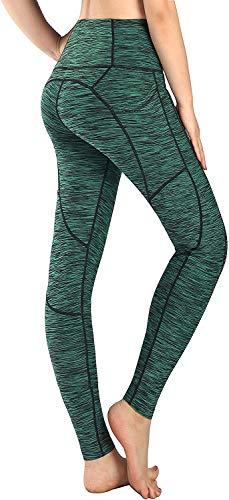 BOTU-TECH - Leggings deportivos para mujer, yoga, capri, pantalones de entrenamiento, leggings activos, con bolsillo lateral