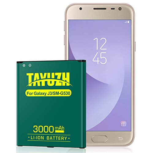 Galaxy J3 Battery, [Upgraded] 3000mAh 3.85V Li-Polymer Replacement Battery for Galaxy On5 EB-BG530BBU for Galaxy J3 J320A J320V J320F J320P J327A J327P EB-BG530BBE/Galaxy Grand Prime SM-G530 Battery
