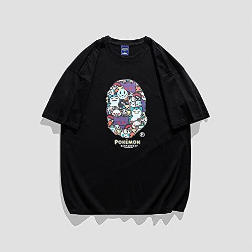 T-Shirts Regalos para Camiseta Padre e Hijo,Camiseta de Manga Corta Mangas de algodón Suelto de los hombres-CT109 Black_SG