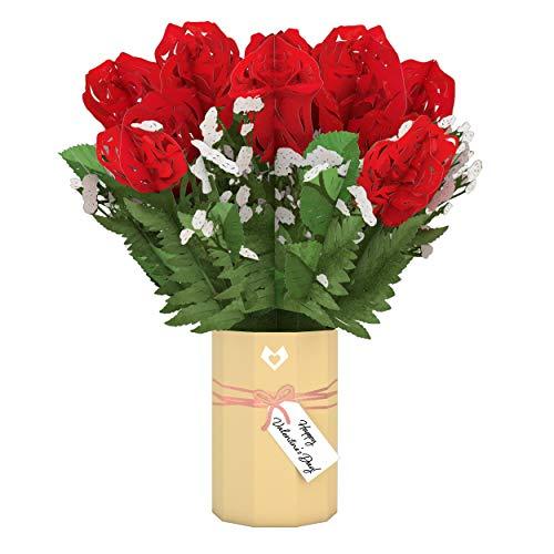 Lovepop Blumenstrauß zum Valentinstag, Pop-Up-Blumen, Blumenstrauß, Valentinstagskarte, Valentinstagsgeschenk für Ehefrau, Karte für Ehefrau, romantisches Geschenk